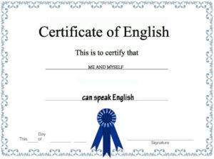 Exámenes y títulos idiomas inglés