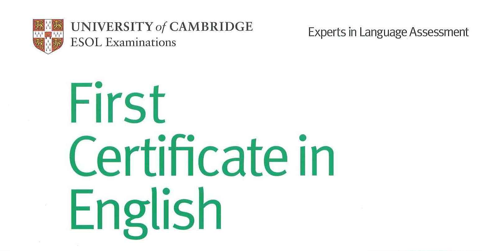 Cómo aprobar el First Certificate inglés