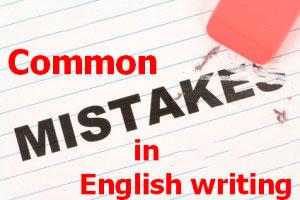 Errores comunes en la escritura del inglés