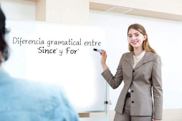 Diferència gramatical entre since y for