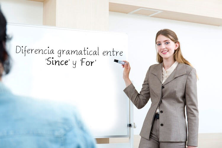 Diferència gramatical entre since y for
