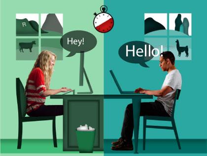 Speaking vía classes online per Skype